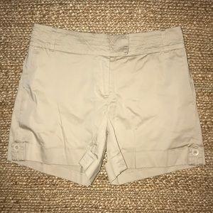 WHBM Tan Cotton Shorts